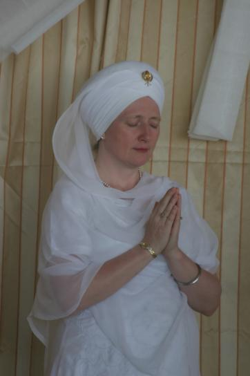 A Sikh Woman Praying